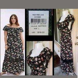 NEW $119 women CITY CHIC Maxi dress floral 20W